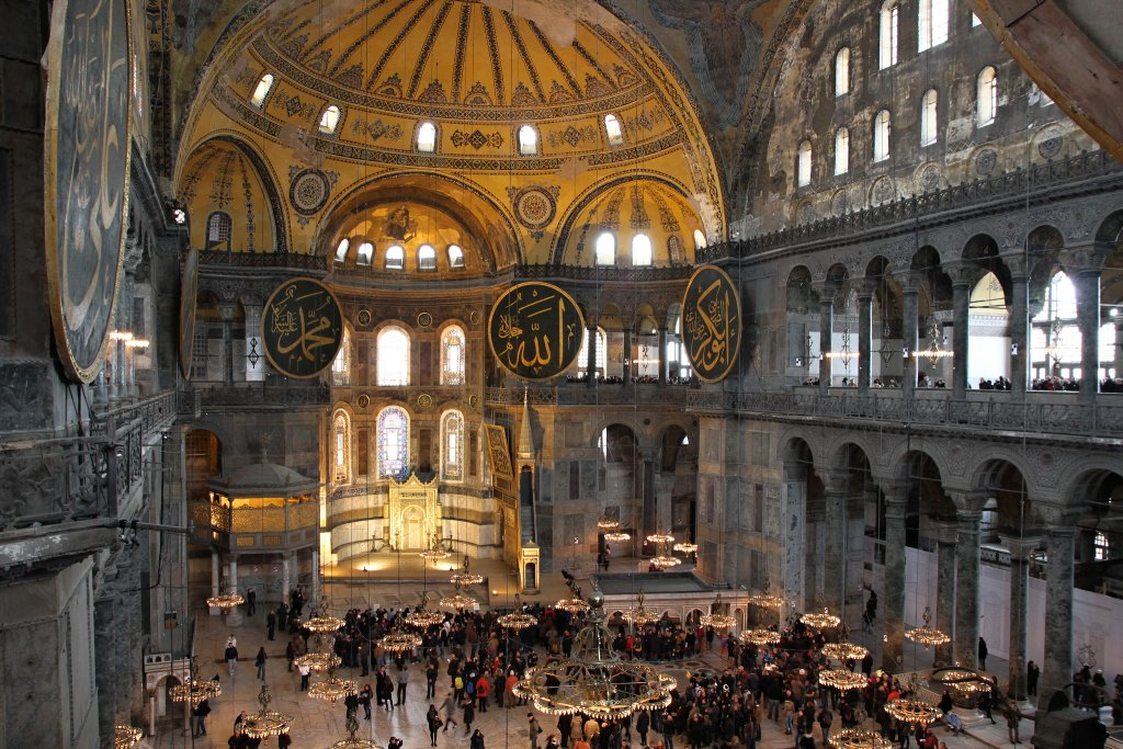 Hagia Sophia – interior, Istanbul, Turkey