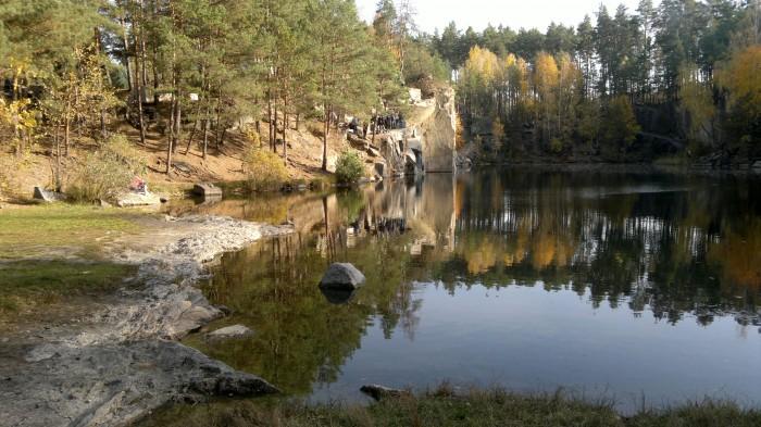 Коростышевский гранитный карьер, который теперь озеро