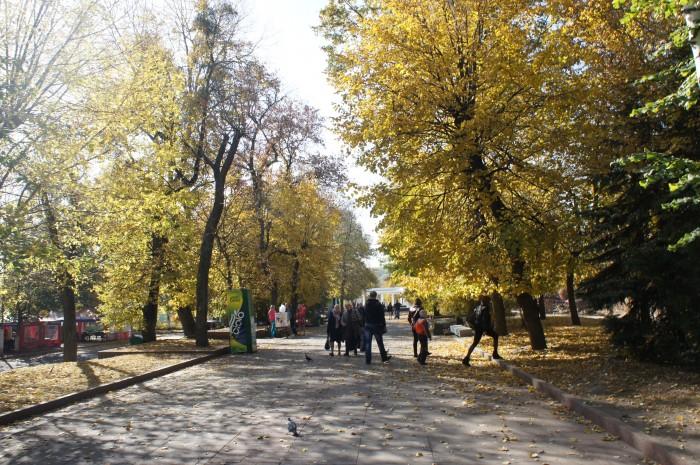 В парке Гагарина, в отличие от Скалы Чацкого людей было больше