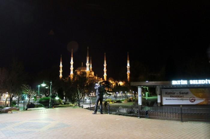 Голубая мечеть Стамбула ночью