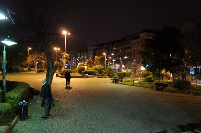Застывшая картинка на фото в парке района Фатих лишь отчасти передаёт энергетику ночного Стамбула