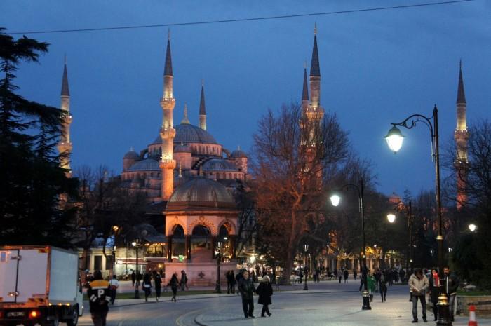 Голубая мечеть сразу после заката