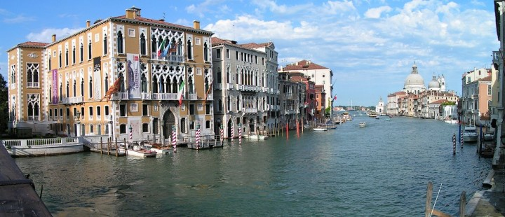 Ponte dell'Accademia - view of Canal Grande, Venice, Italy