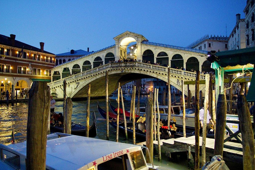 Rialto bridge in Venice, Veneto, Italy