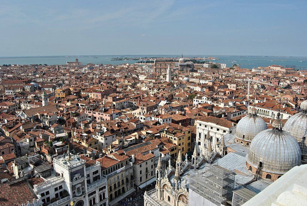 View from St Mark's Campanile of Venice, Veneto, Italy