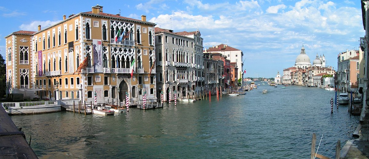 Ponte dell'Accademia – view of Canal Grande, Venice, Italy
