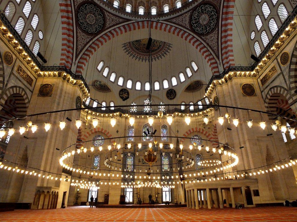 Süleymaniye Mosque – interior, Istanbul, Turkey